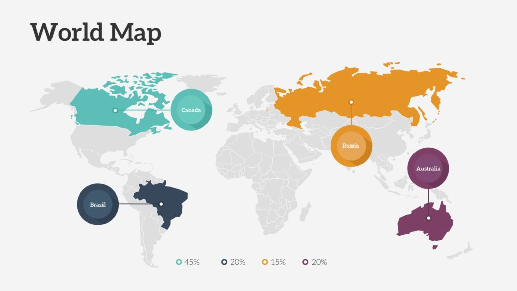 World Map PowerPoint Slide